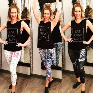 Strut-This x The Barre Code Capri Leggings