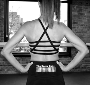 The Barre Code x Onzie Foil High Elastic Bra