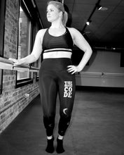Load image into Gallery viewer, The Barre Code x Onzie Foil High Rise Midi Legging