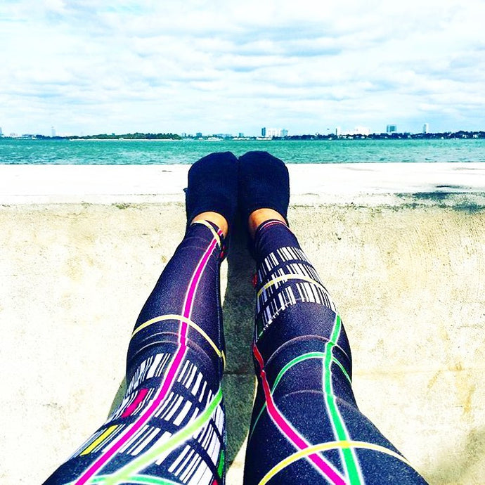 The Barre Code x Terez Leggings
