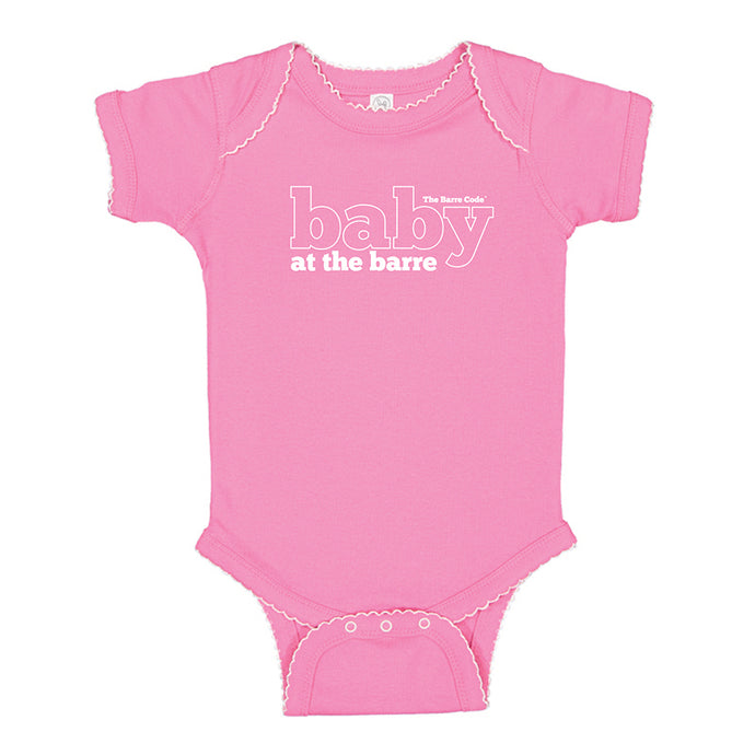 Baby at the Barre Baby Bodysuit Raspberry Picot Onesie