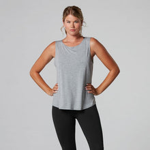 Load image into Gallery viewer, Tavi Noir Twist Back Tank - Heather Grey