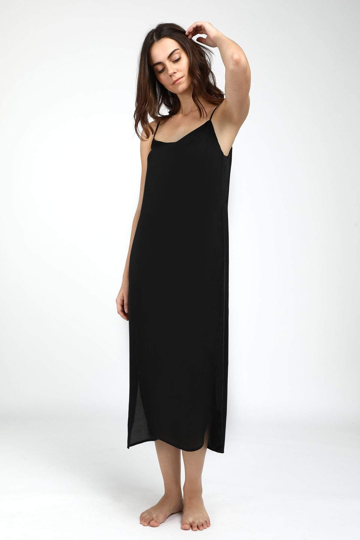 Neu Nomads Easy Slip Dress - Slate Black