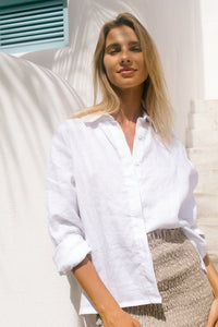 LJC Designs The Jessie Linen Button Up Shirt
