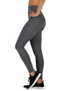 Glyder High Waist Pure Legging: Stone Grey Melange