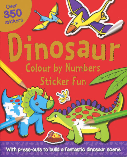 Colour by numbers Sticker Fun: Dinosaur
