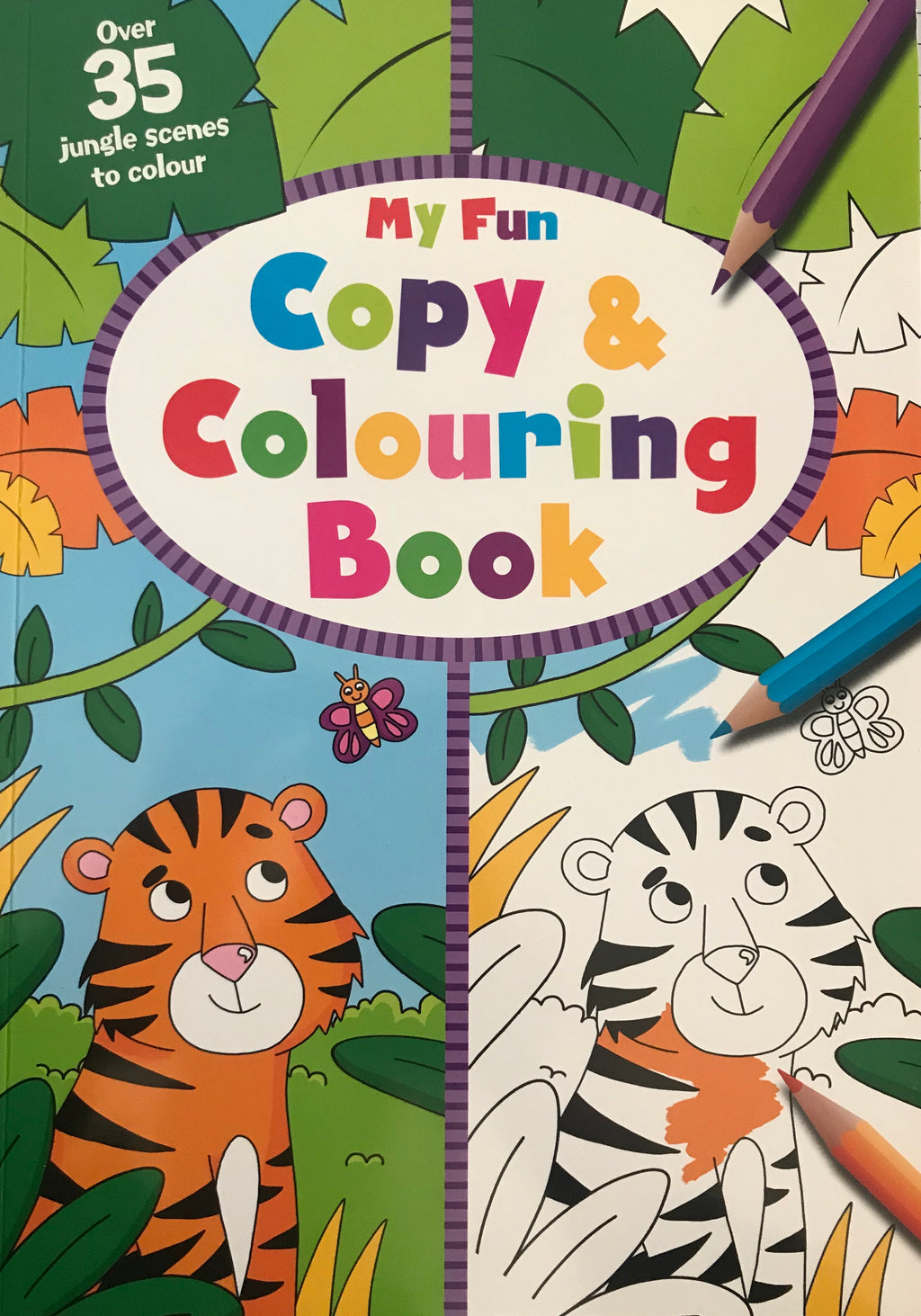 My Fun Copy & Colouring Book
