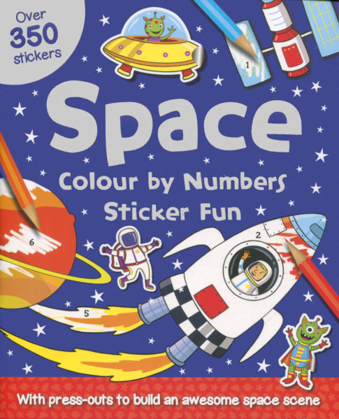 Colour by numbers Sticker Fun: Space