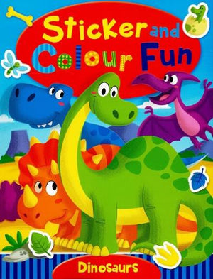 Sticker and Colour Fun - Dinosaurs