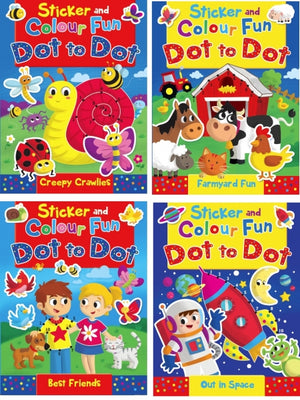Sticker and Colour Fun: Dot to dot - Out in Space