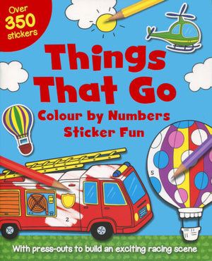Colour by numbers Sticker Fun: Things that Go