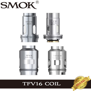 3pcs/lot Original SMOK TFV 16 Mesh Coil Dual Mesh Triple Mesh Conical Mesh Head Core For TFV16 Tank Mag P3 Kit Vape Vaporizer