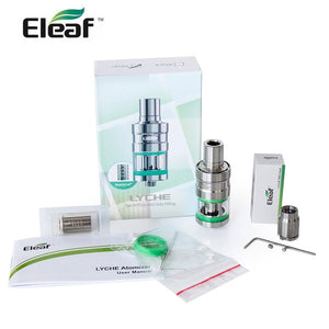 e-cigarette Original Eleaf LYCHE Atomizer con 5pcs dual coil in regalo or 1 RBA head in regalo