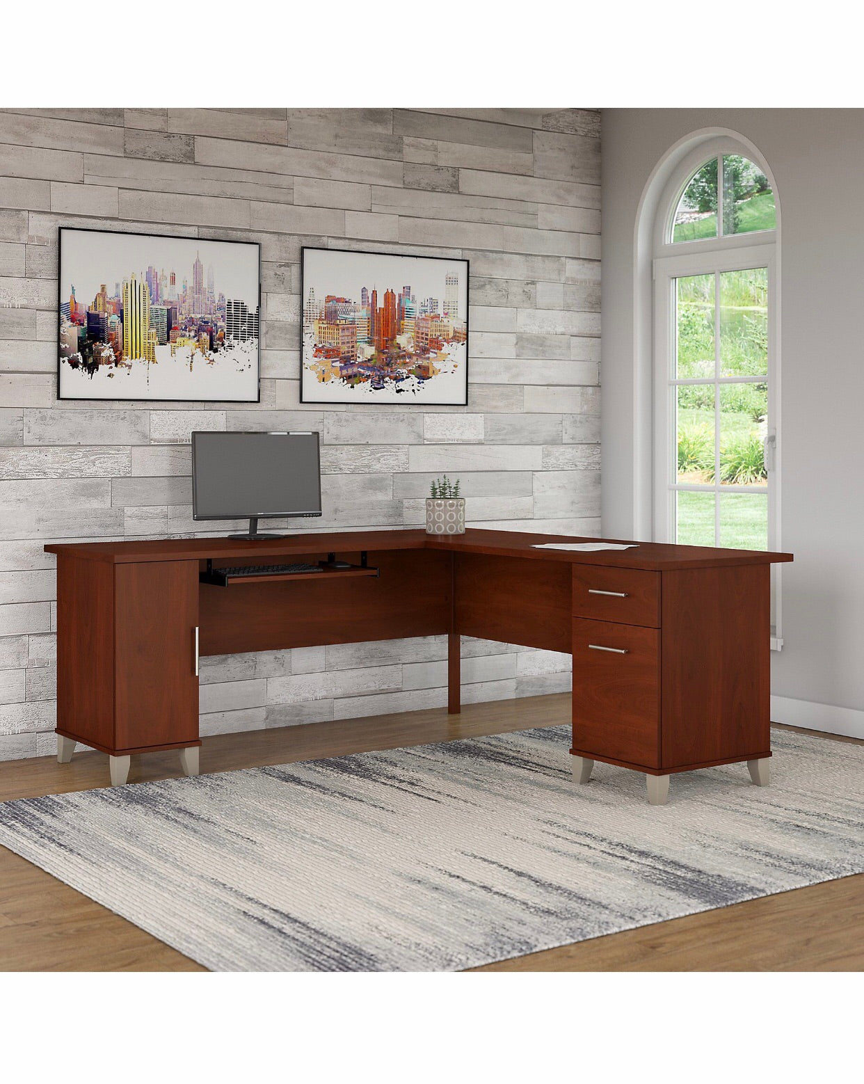 L- shape executive desk