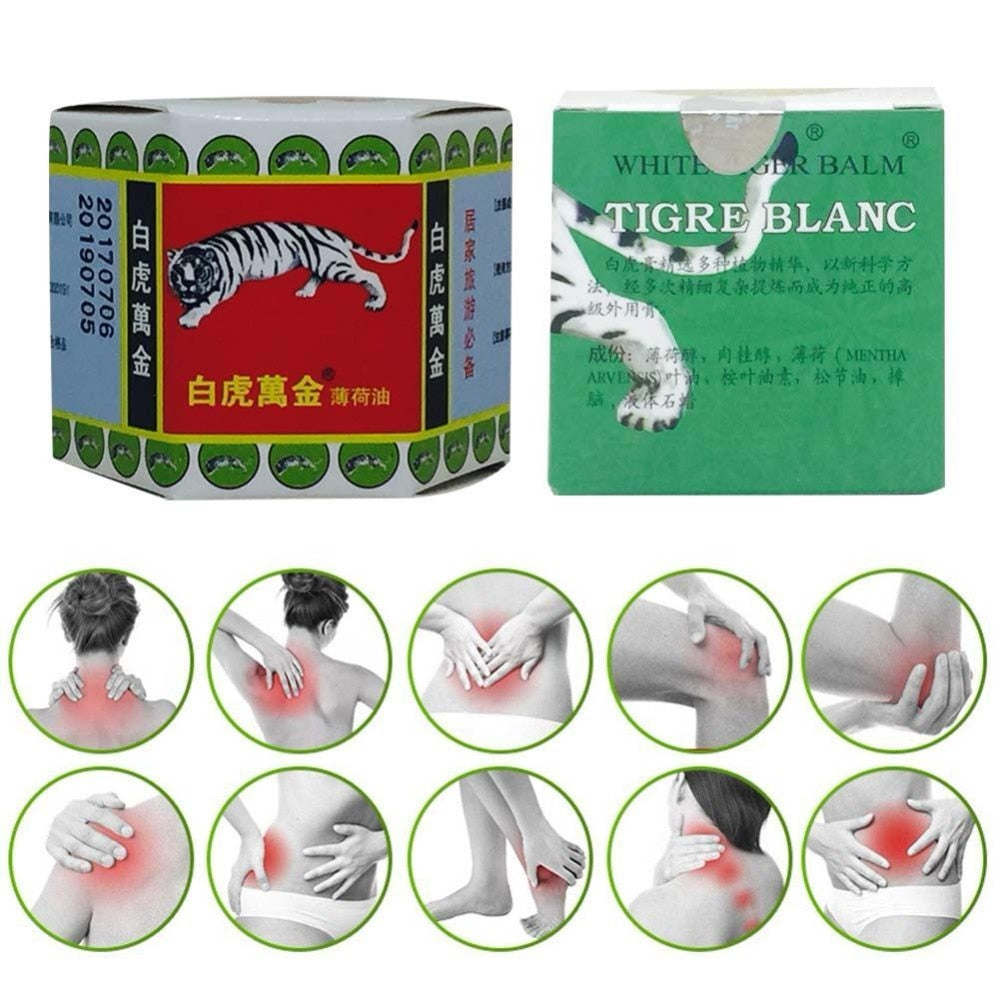 White Tiger Balm Pain Relief Muscle Ointment Stomachache Massage Rub Muscular Tiger Balm Dizziness Essential Balm