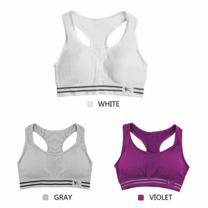 Quick Drying Seamless Sports Bra Women Absorb Sweat Yoga Bra Padded Push Up Stretch Vest Running Underwear