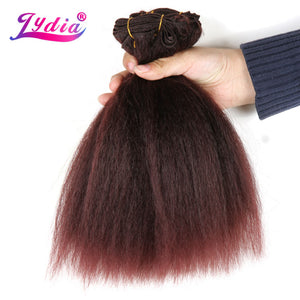 Lydia For Black Women Synthetic Hair Extension Short Kinky Straight Weaving Pure Color 10 Inch Hair Wave 1PCS/Pack Hair Bundle