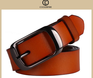 2017 Women's strap casual all-match Women brief genuine leather belt women strap pure color belts Top quality jeans belt WH001