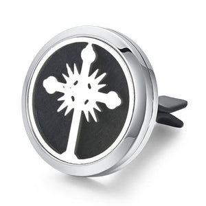 30mm Tree of Life Stainless Steel Car Air Freshener Perfume Essential Oil Diffuser Locket Random Send 1pcs Oil Pads as Gift 4579