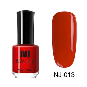 NEE JOLIE Nail Polish  Coffee Gray Red Series Nail Varnich Pure Nail Color Nail Art Polish Lacquer Decoration 7.5ml 3.5ml