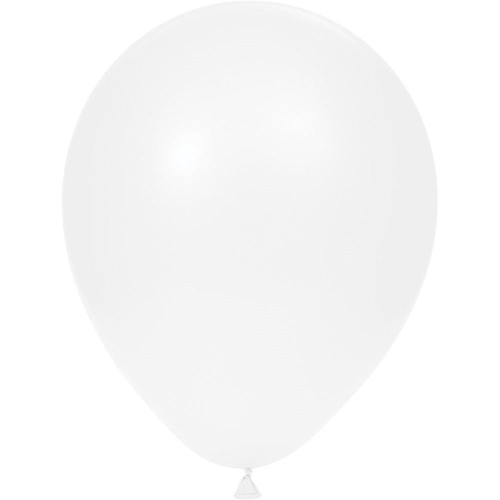 12 inch Solid Latex Balloons White White/Case of 180