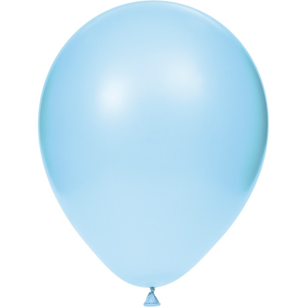 12 inch Solid Latex Balloons Pastel Blue Pastel Blue/Case of 180