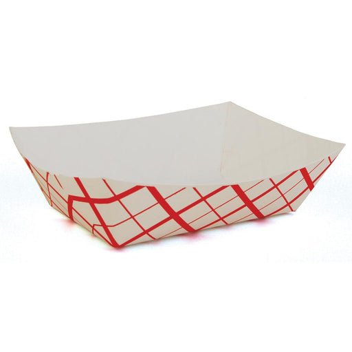 Southern Champion Tray 300 3-Lb Red Checked Paper Food Tray