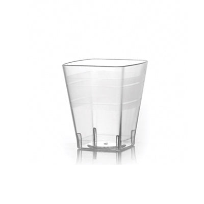 2 oz Clear Square Plastic Shot Glasses
