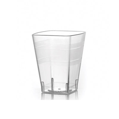 8 oz Clear Square Plastic Tumblers