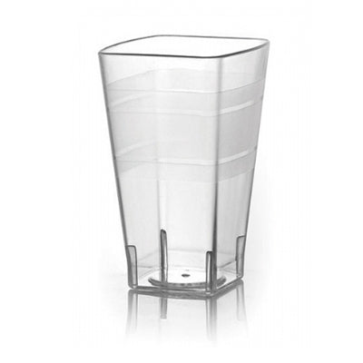 14 oz Clear Square Plastic Tumblers