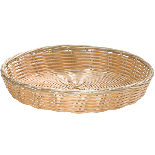 "Tablecraft 1169W, Beige 10""Dia. x 1 1/2""H, Round Handwoven Basket"