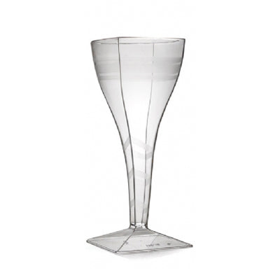 1 Piece 8 oz Plastic Square Wine Glasses