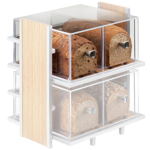 12W x 12D x 6H Eco Modern Two Drawer Acrylic Bread Box for 1279 Bread Case