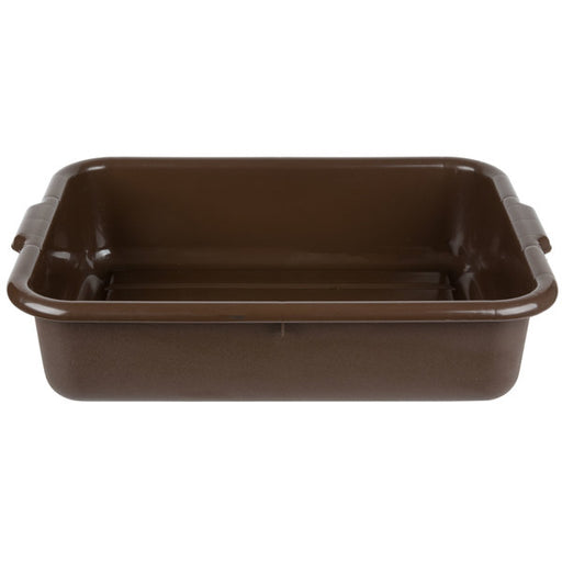 "21 1/4""L x 15 3/4""W x 5""H Tote Box Bus Tub, Brown, 5.5 Gal."