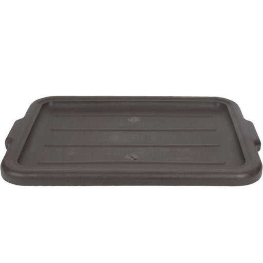 "21-1/4""L x 16""W x 1""H Tote Box Cover, Brown for 5.5 Gal. and 7.5 Gal. Tote Box Bus Tub"
