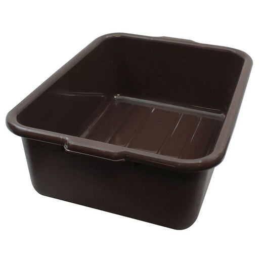 "21 1/4""L x 15 3/4""W x 7""H Tote Box Bus Tub, Brown, 7.5 Gal."