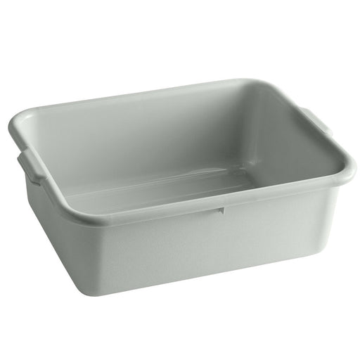 "21 1/4""L x 15 3/4""W x 7""H Tote Box Bus Tub, Gray, 7.5 Gal."