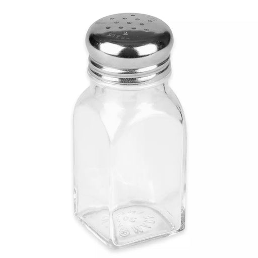 2 oz Square S&P Shakers, Stainless Steel Tops