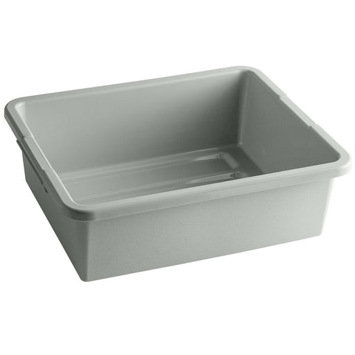 "21""L x 17""W x 7""H Heavy Duty Bus Tub Tote Box, Gray, 5.5 Gal."