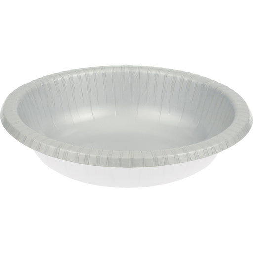 Touch of Color 20 oz Paper Bowl  Shimmering Silver