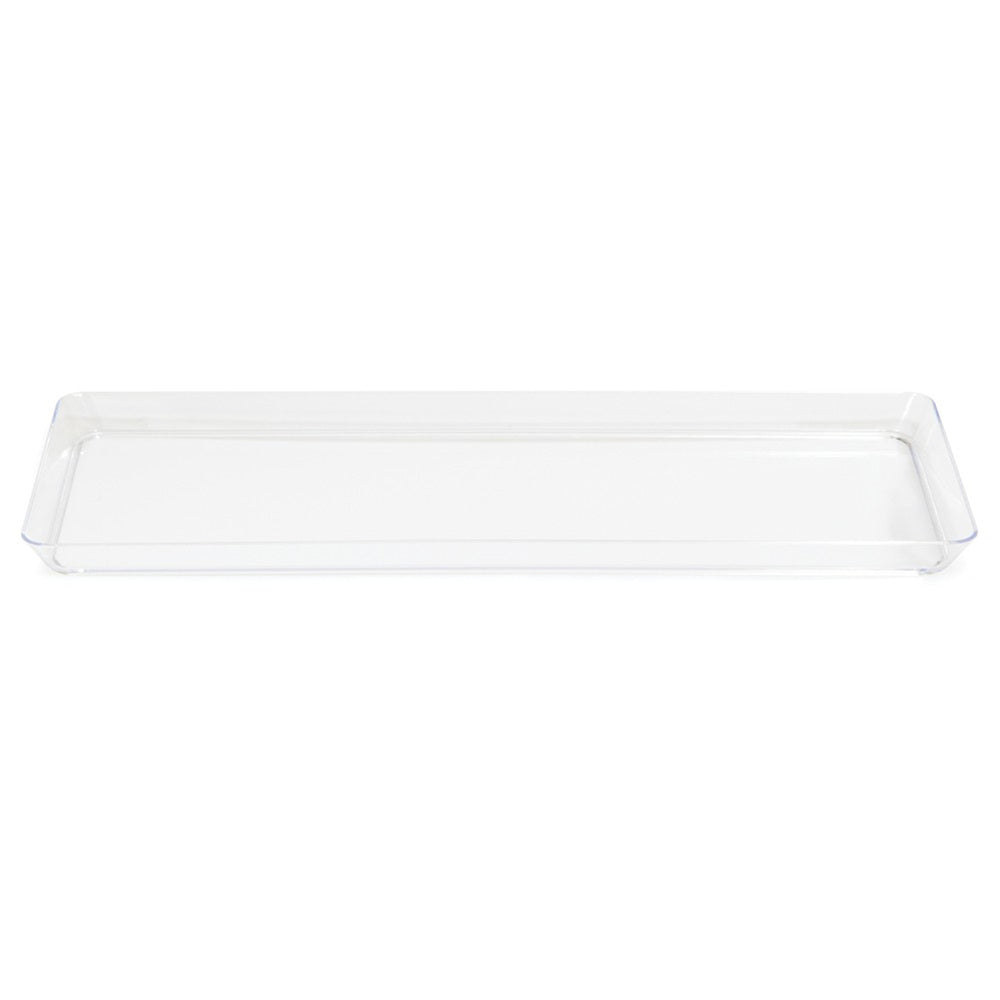 Clear 6 x 15.5 Plastic Rectangular Tray/Case of 6