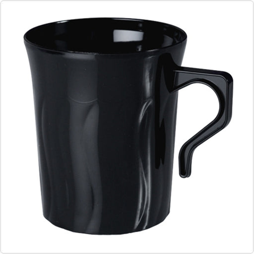 Black Flairware 8 oz Plastic Coffee Mugs