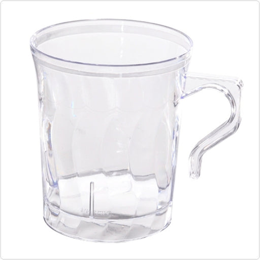 Clear Flairware 8 oz Plastic Coffee Mugs