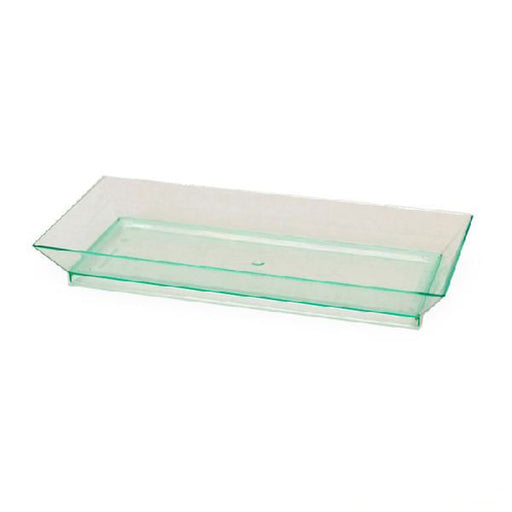 5 x 2 Rectangular Transparent Green Dishes/Case of 200