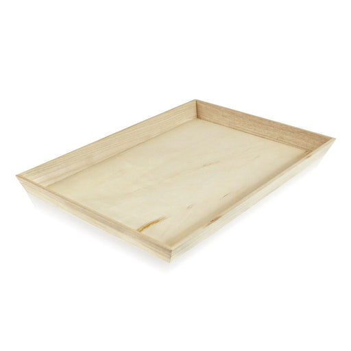 "18""L x 12""W x 1 5/8""H ""Noah45"" Heavy Duty Wooden Tray"