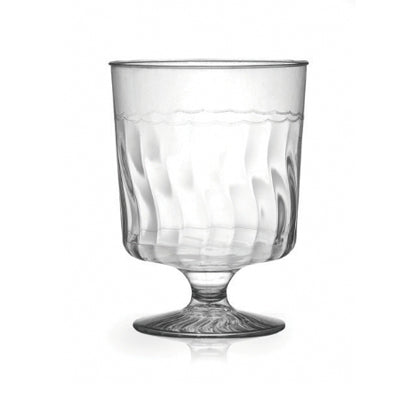 5 1/2 oz 1 Piece Wave Plastic Wine Glasses
