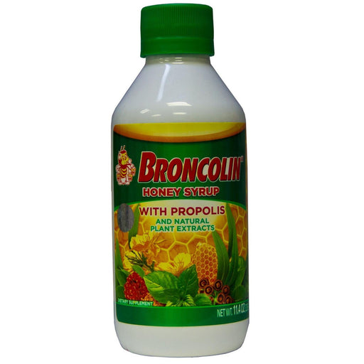 Broncolin Honey Syrup With Natural Plant Extracts And Propolis 11.4 Oz