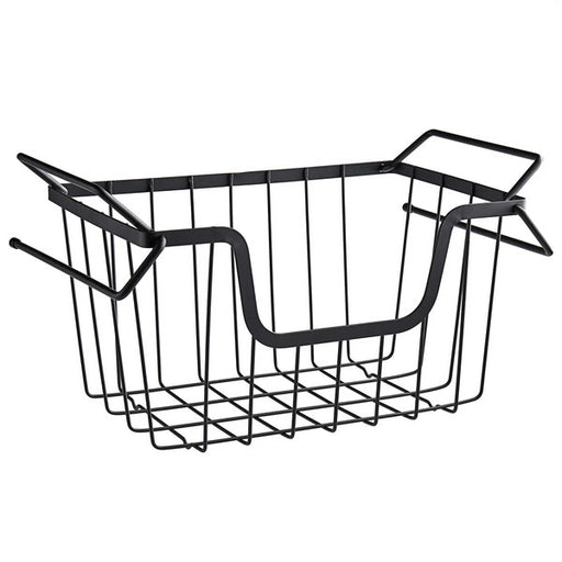 "Tablecraft 240000, Grand Master Transformer Black Powder Coated Metal Stackable Hanging Basket - 15 1/2""W x 9 1/2""L x 8 3/4""H"