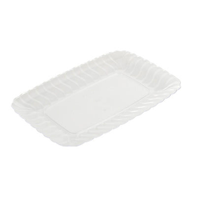 Clear Flairware 5 x 7 Plastic Serving Trays