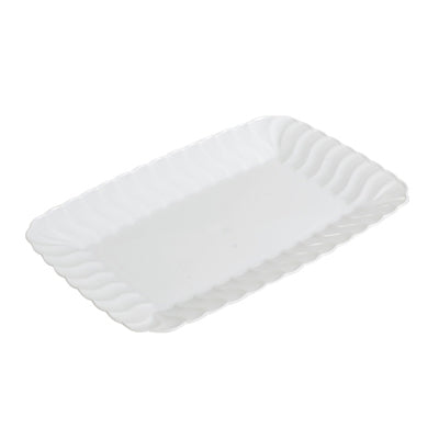 White Flairware 5 x 7 Plastic Serving Trays